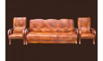 Finka V F2 skóra naturalna wersalka: gł.93/szer.208/wys.95 spanie: 195/125 fotel: gł.77/szer.64/wys.106